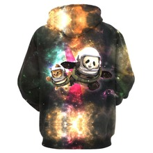 3D cat hoddie galaxy explorers