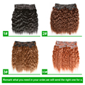Clip In Human Hair Extensions 112G  Wet and Wavy Human Hair Clip In Extensions 6pcs/set Wet and Wavy Virgin Brazilian Hair #33