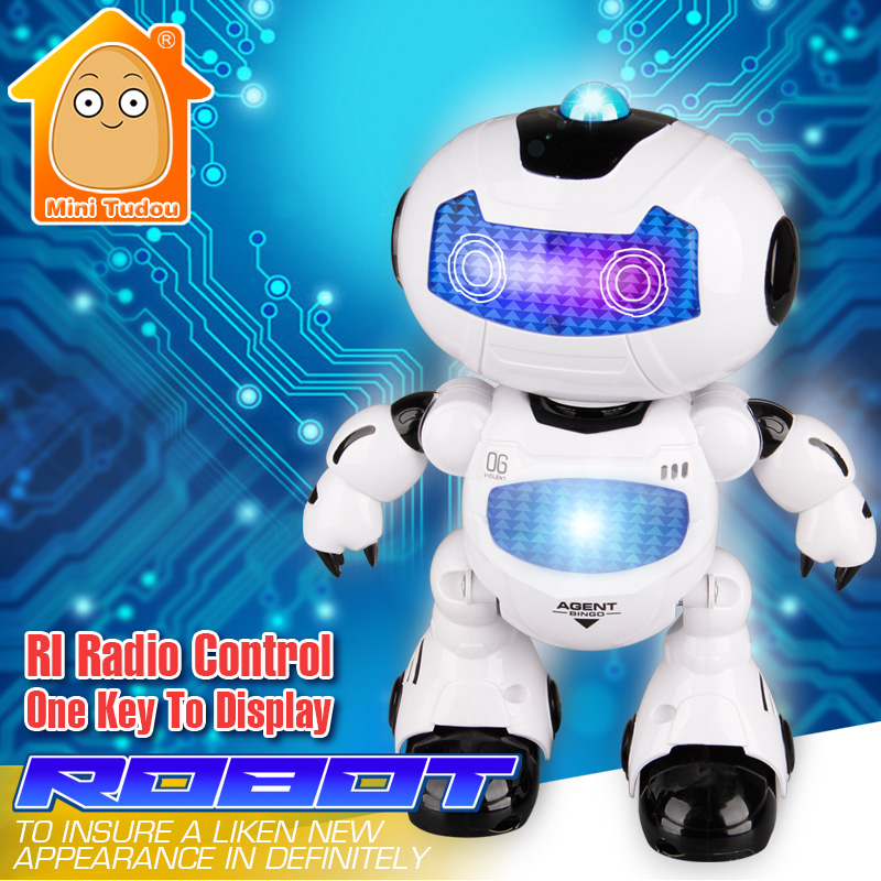 MiniTudou 2017 Figure Action Learning & Education Infrared Remote Control Toy RC Robot Toys Electronic Intelligent Girls Boys lego education 9689 простые механизмы