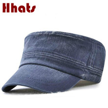 which in shower high quality denim military hat women vintage jean