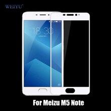 Weiyu 9 9н 2.5d полное покрытие закаленное стекло-экран протектор для meizu m5 примечание мейлань примечание 5 защитная пленка