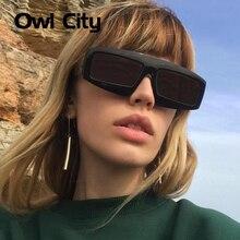 Сова город роскошные солнцезащитные очки для женщин и мужчин винтажные брендовые дизайнерские женские очки ретро прямоугольные большие черные солнцезащитные очки