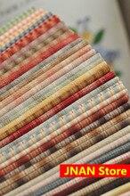 20×20 DIY Япония маленькая ткань группа окрашенная пряжа ткань, для шитья ручной работы лоскутное шитье, сетка полоса точка случайный 10 стиль/лот