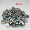 Ledaut O2 Oxygen Sensor Bung And Plug Kits (25Sets) M18X1.5 Oxygen Sensor Fittings Weld Bung Universal Fit