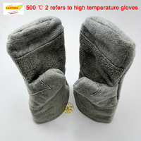 CASTONG new fireproof glovesABG 2T 500 degrees high temperature resistant gloves wear resistant guantes Corte