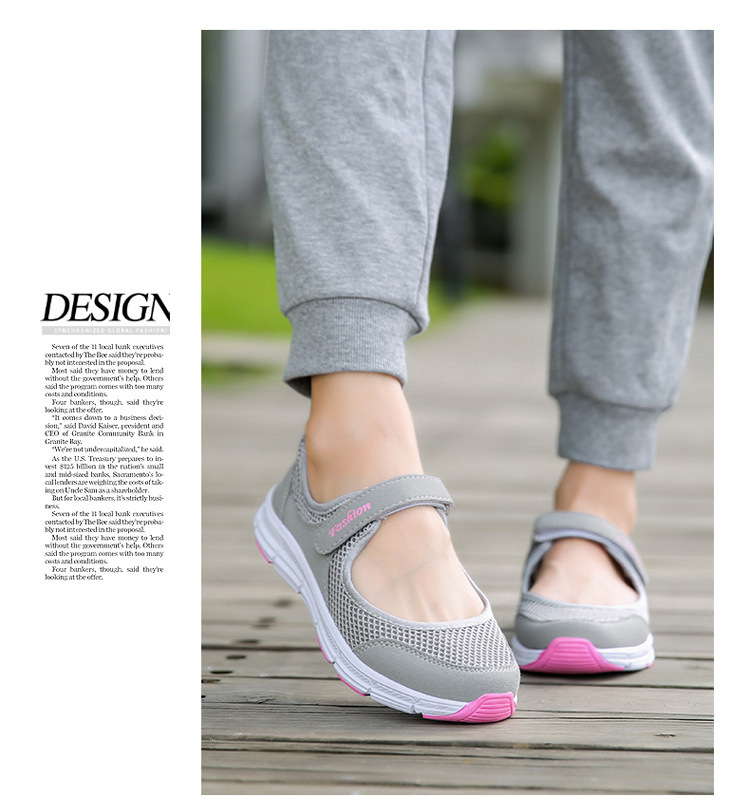 Soft Breathable Mesh Flat Shoes for Women