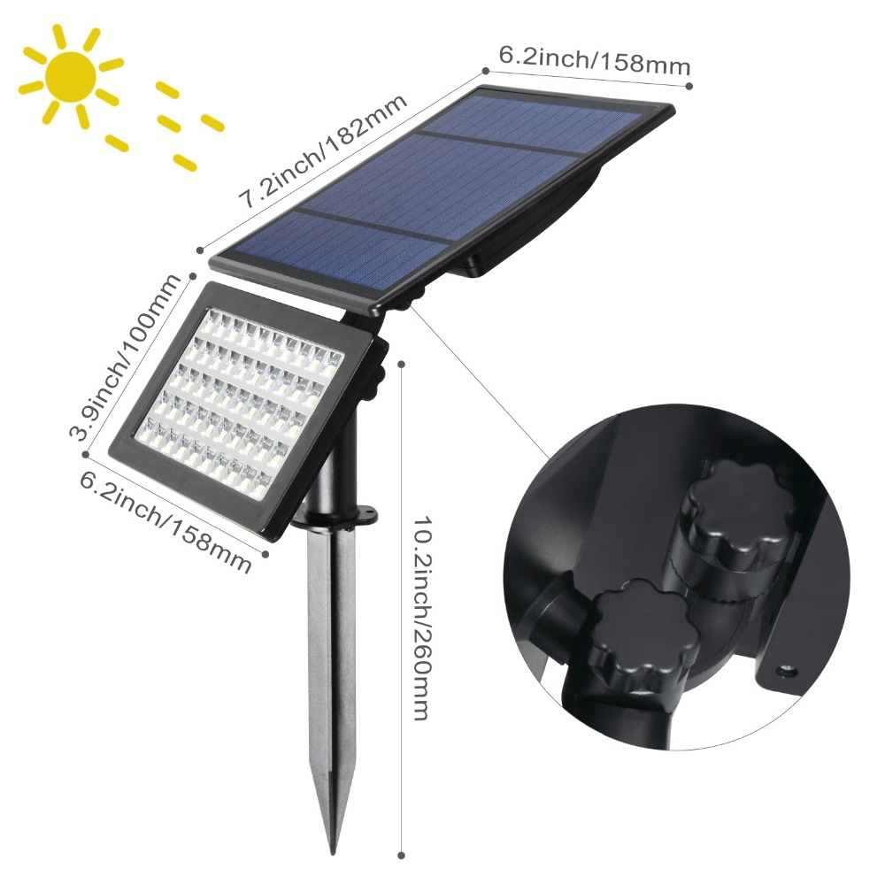 T-SUNRISE 2 pçs pacote 5 w spotlight