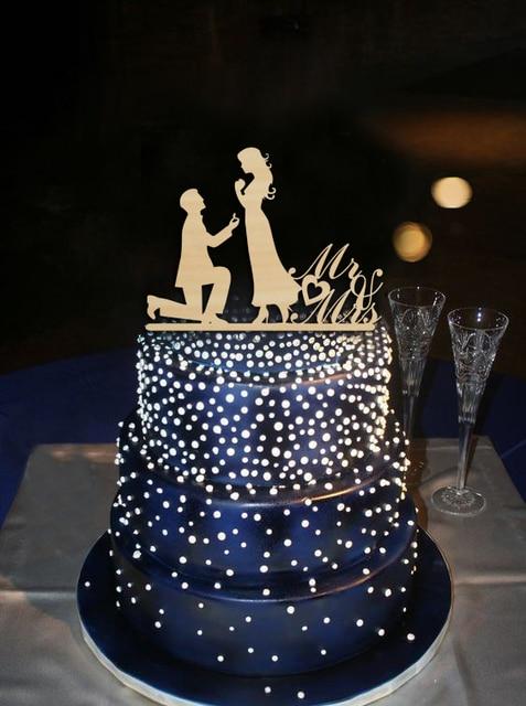 Lover Favors Wedding Cake Topper Man Propose To Lover Heart Design