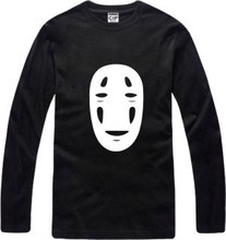 New Men's long sleeve T shirt No Face man Cotton Top Casual Hooded Fashion