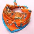 Классический ретро-link цепи натурального шелка 12 мм шарф небольшой площади платок 52 x 52 см шарфы горячая распродажа девушки повязка на голову шаль новый
