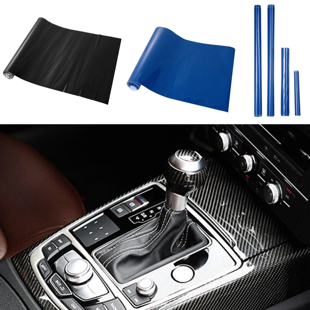 6D Shiny Gloss Glossy Carbon Fiber Film Wrap Vinyl Decal Car Auto Sticker New~~