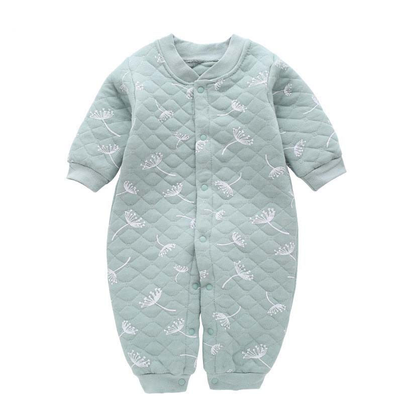 Newborn baby girls boys warm   rompers   winter autumn toddler thick overalls jumpsuits for bebe infant warm outfits baby clothing