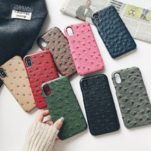 Ostrich imitation leather case for iphone 11 11Pro 11Pro Max XS Max XS XR 6 6S