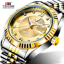 Mens watches Automatic mechanical watch tourbillon clock Casual business wristwatch relojes hombre top brand TEVISE luxury