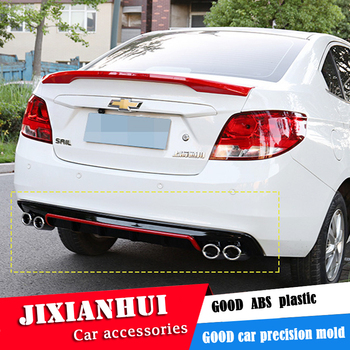 For SAIL Body kit spoiler 2015-2017 For  Chevrolet sail DCS ABS Rear lip rear spoiler front Bumper Diffuser Bumpers Protector