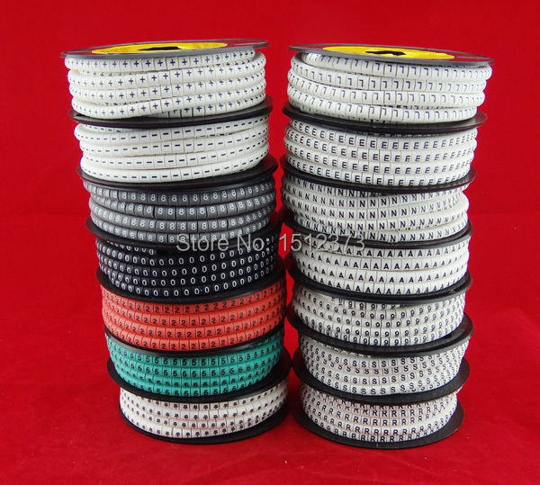 где купить 5pcs/lot Cable marker EC-0 1.5mm2 colorful mark the wire and cable по лучшей цене