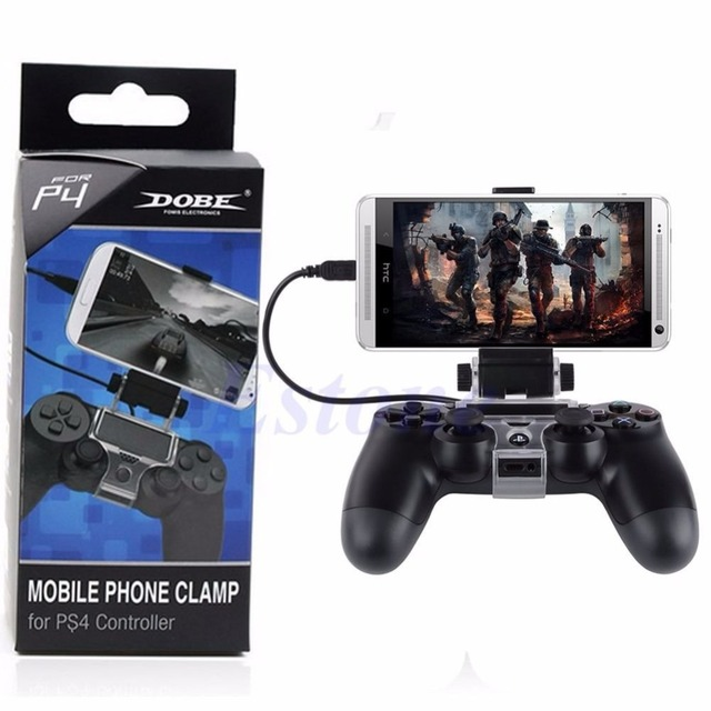 For PlayStation PS4 Game Controller Smart Mobile Phone Clip Clamp Mount Holder 1
