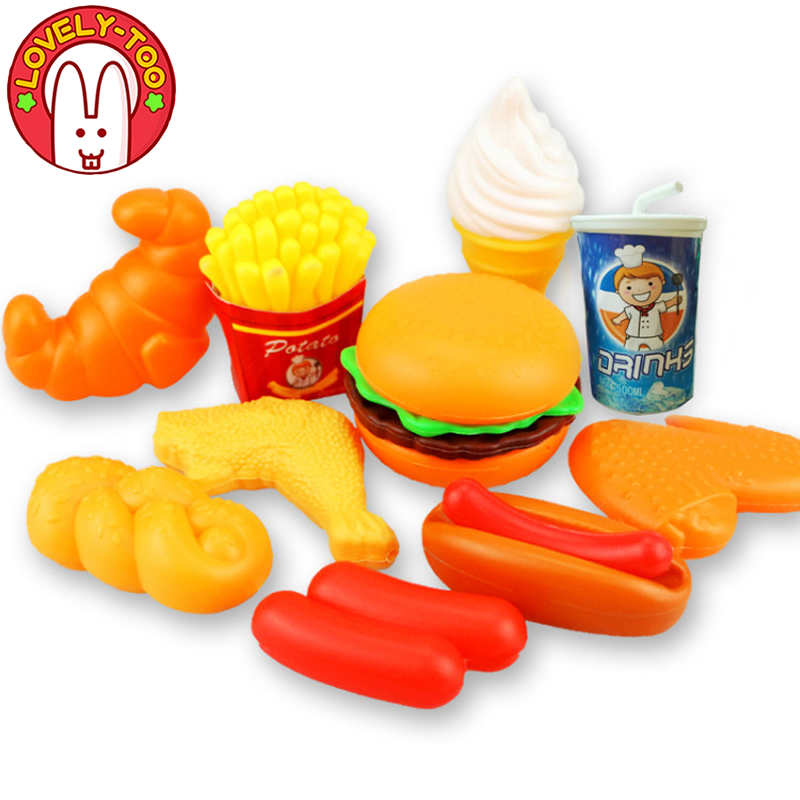 Baby Kitchen Play Food Toys Girl Dinette Child Toy Pretend Play Mini Food Ice Cream Kitchen Set For Kids