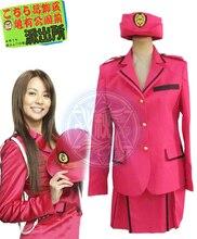 Kochikame Reiko Katherine Akimoto Pink Dress Anime Cosplay Costume