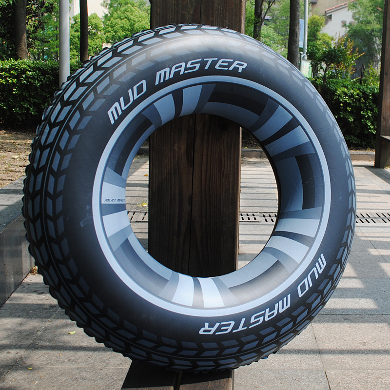 90cm Cool Black Wheel Tire Men Swimming Ring Adult Inflatable Pool Float Tube Circle Summer Water Toys Air Mattress Boia Piscina
