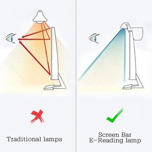 Image 5 - 1 Pc 5V Usb Led Dimbare Tafellamp Monitor Laptop Screen Zachte Verlichting Lichtbalk Oogbescherming Lezen Dimmer clip On Desk Lampen
