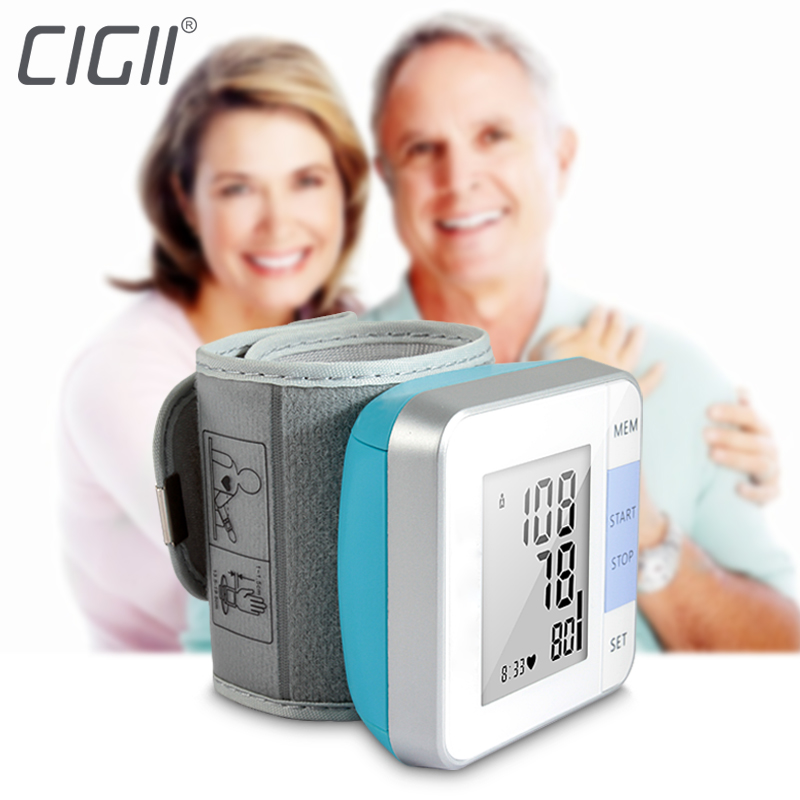 Cigii Smart Pulse Tester Cuffs digital detector Portable health care tools 1 pcs Newst Wrist blood pressure monitor