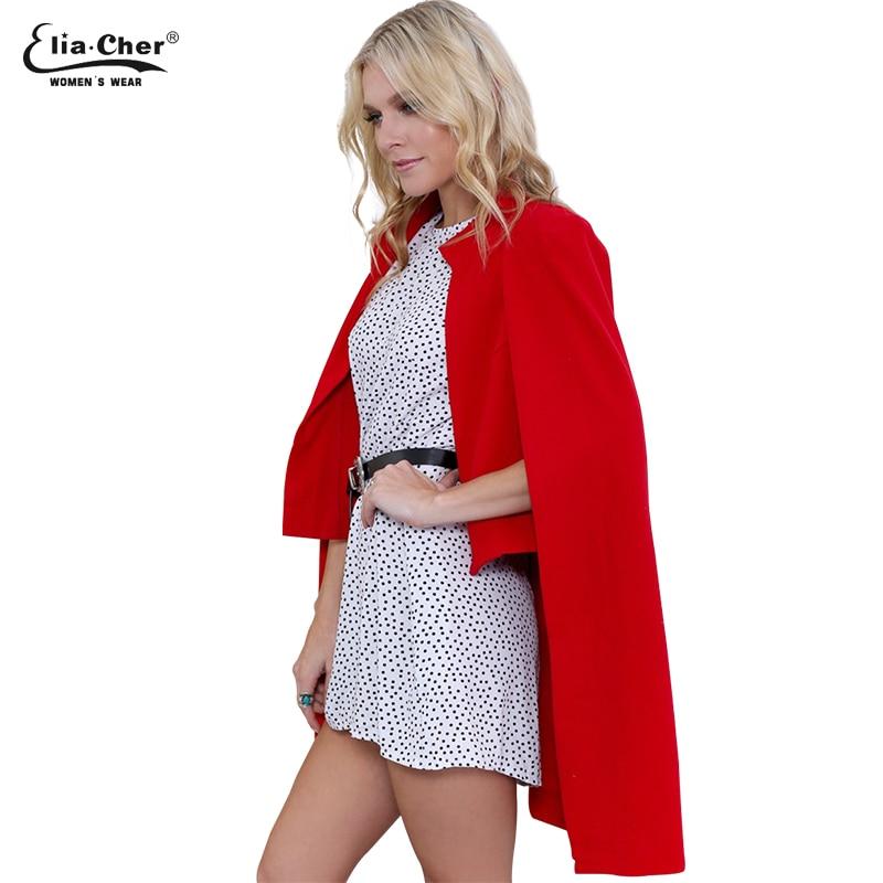 Eliacher markası qəşəng zərif qadın yun palto moda açıq - Qadın geyimi - Fotoqrafiya 2