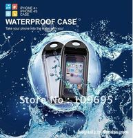 Free Shipping IPX8 Waterproof Case Skin Bag For IPhone 4 4S Hard Case Cover For IPhone