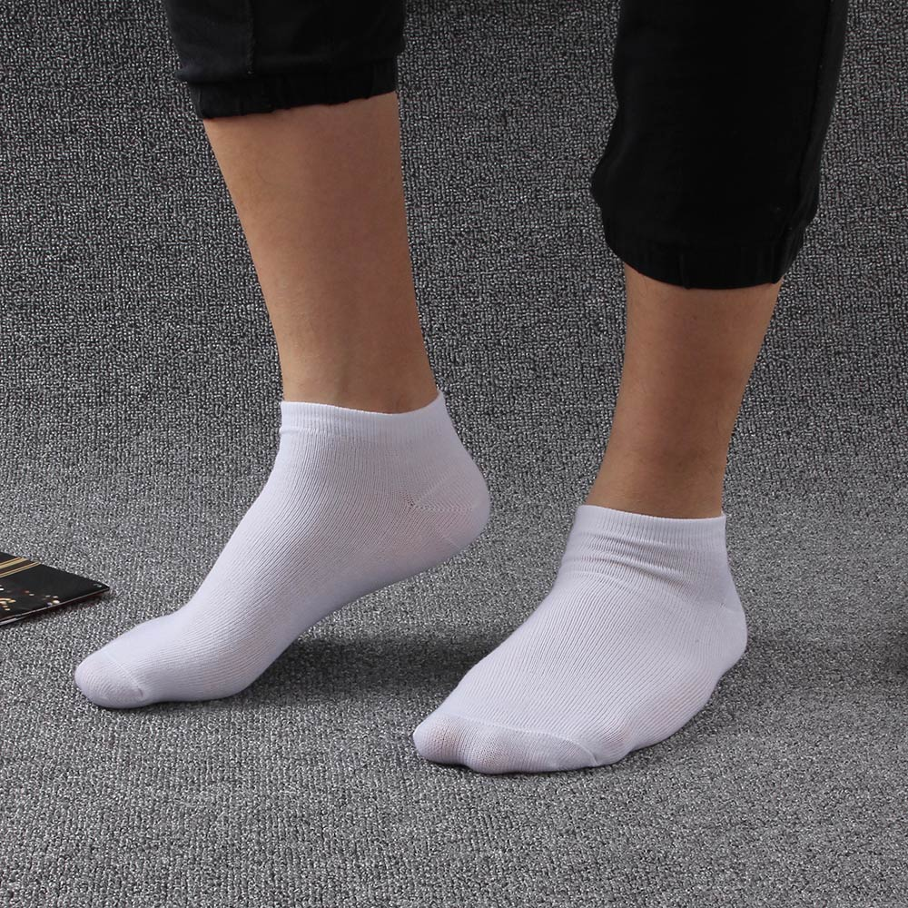 10pair=20Pcs/lot Men Sock Thin Socks Short Deodorize Socks Cotton Men Casual Wear black gray white  Couple Short Sock ...