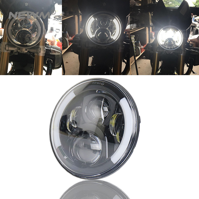 1pc 7 inch round Motorcycle Projector Daymaker LED Headlight With Halo & DRL &Turn light For Harley Davidson Street Glide 7 inch motocycle projector daymaker dual led headlight for harley davidson road glide 2004 2013