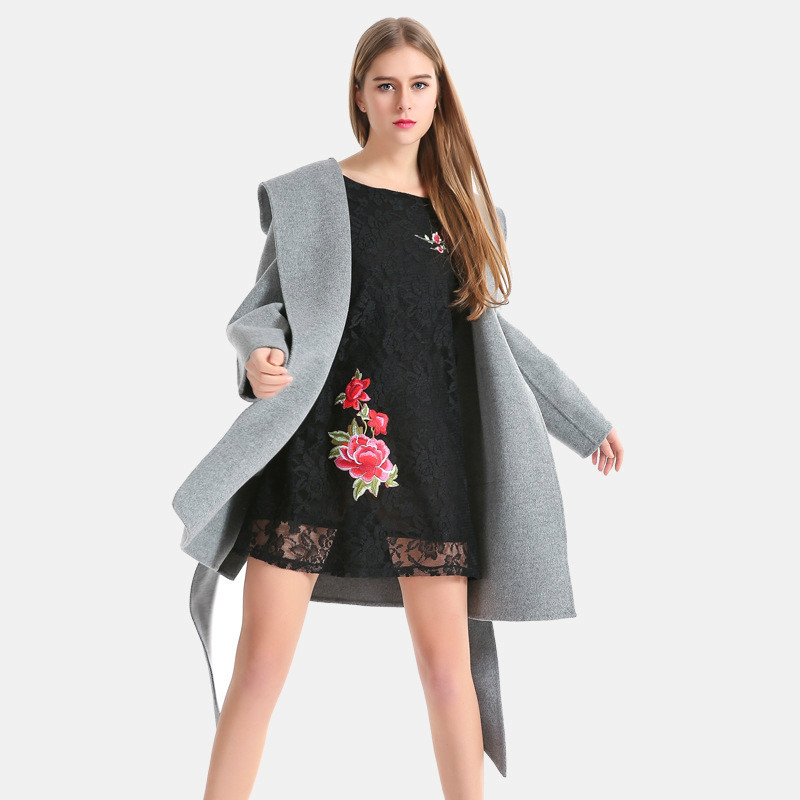 Hohe Qualität Koreanische Mantel Mode Wollmantel Winter Trenchcoats