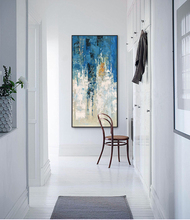 Abstract home wall art picture blue sky canvas
