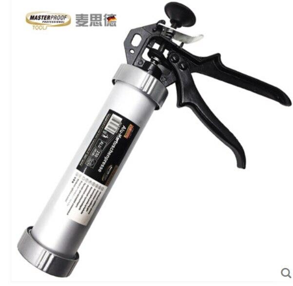 Germany Mai Side dual aluminum glass glue gun caulking gun silicone gun glue gun 300ml