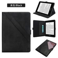 Conelz for Amazon Kindle Paperwhite 4 2018 Case Cover PU Leather Flip-open Wallet Case w/ Card Slot & Multi-angle Stand Case стоимость