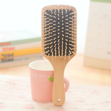 New Air Hair Paddle Hair Brush wooden Color, Good Quality Healthy Paddle Cushion Hairbrush For Scalp Message