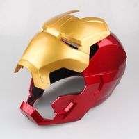 With LED Light Avengers Iron Man Helmet Cosplay Marvel Superhero Tony Stark Action Figure Touch Sensing Mask Helmet