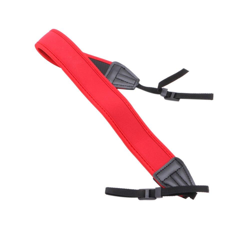 OOTDTY New High Elastic Belt Neoprene Shoulder Neck Strap for Canon Camera Red