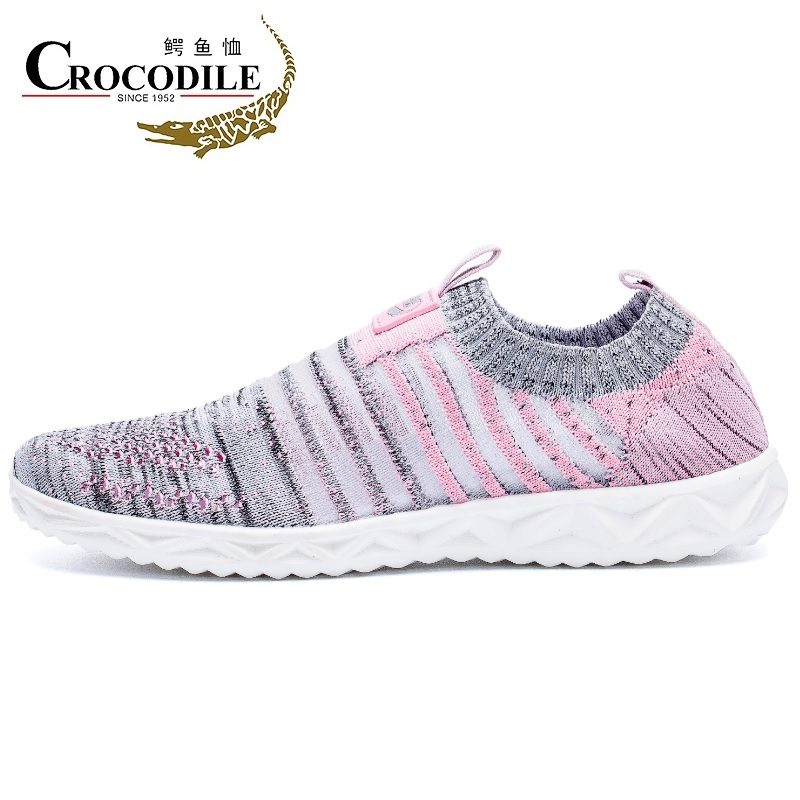 $37.60 Crocodile Women 39's Running Sneaker Mesh Breath Knitted Low Lofter Light Pedal Walking Shoes for Women's Athletic Sport Shoes