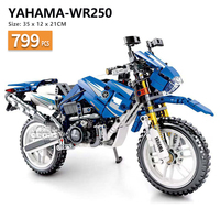 799 PCS Technic yamaha toy motorcycle motorbike Building Blocks Bricks fit legoIN Construction kids kits Toys Boys gift