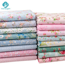 Fabric Meters Floral Collection 100% Cotton Fabric for Clothes Baby Dress Sewing Bed Sheet Pillow Cover DIY Sewing Fabrics(China)