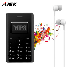2017 Ultra Thin Card Mobile Phone 4 8mm AIEK AEKU X7 Low Radiation mini pocket students