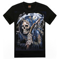 Rocksir 2016 Brand New Men Skull sickle Design T Shirt Black T-Shirt Men's Shirt Cool Short sleeve T shirts For Men