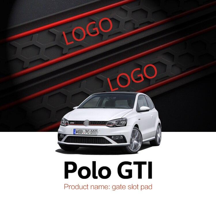 Smabee Automobil Tor slot pad Für Volkswagen Polo GTI rutschfeste matten 9 stücke ROT BLAU WEIß