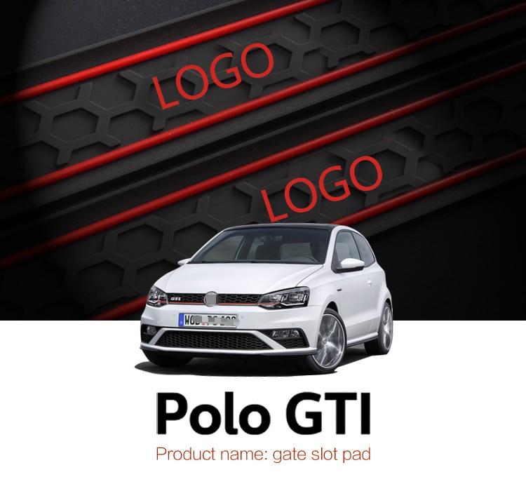smabee Automobile Gate slot pad For Volkswagen Polo GTI Non-slip mats 9pcs RED BLUE WHITE