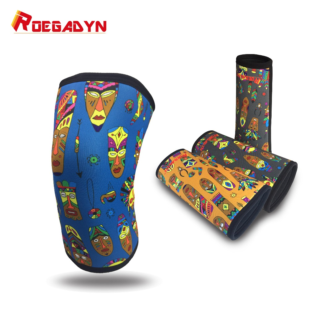 7mm Unique Gym Little Elastic WeightLifting Compression Neoprene Knee Sleeves Squats Knee Joint Support Brace,better protection цена