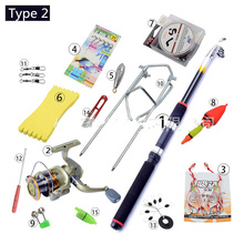 New Portable Telescopic Fishing Rod Combo 3 Types Sea Fishing Rod Combo Spinning Wheel Beginner Carp Fishing Rod Combo 2.1m-3.6m