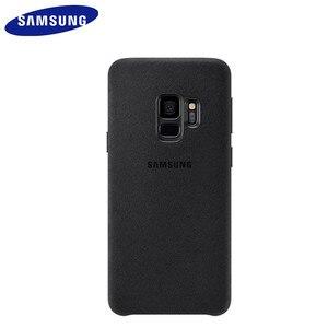 Image 3 - Samsung S9 durumda orijinal hakiki süet deri donatılmış koruyucu kılıf Samsung S9 artı S9 + EF XG9650 9500 için Galaxy s9 kapak