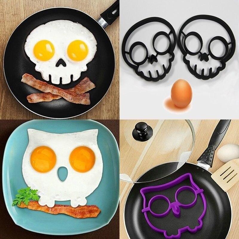 Whatyiu 1Pc Cute Mini Egg Frying Pan Handheld Kitchen Non-Stick Omelette Pancake Molds Tool 4.7-inch