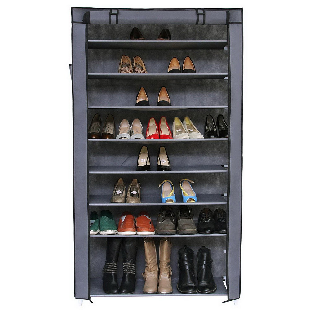 Non-woven Fabric Storage Shoe Rack Hallway Cabinet Organizer Holder door shoe cabinet shelf DIY Home Furniture Ship from US non woven fabrics hanging type 18 cd dvd card holder beige