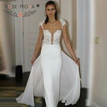 Rose Moda Beach Wedding Dress Train Wedding Dresses 2019